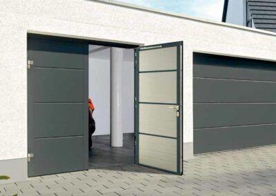 Openslaande garagedeur NT80-2  Thermisch geïsoleerde